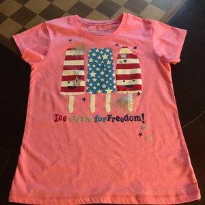 "Faded Glory ""Ice Cream For Freedom"" Girls T-Shirt"